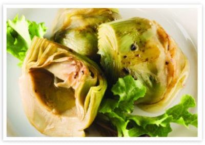 Carciofi Scazzattati (Sautéed Artichokes with Tomato and White Wine)