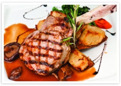 Grilled Veal Chops with Balsamic Sauce
