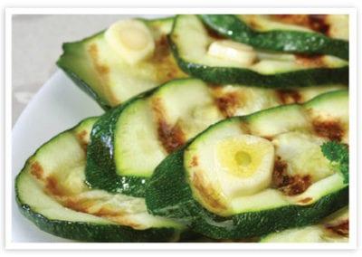 Zucchini with Grana Padano