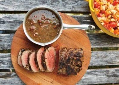 Beef Tenderloin with Soppressata and Olives