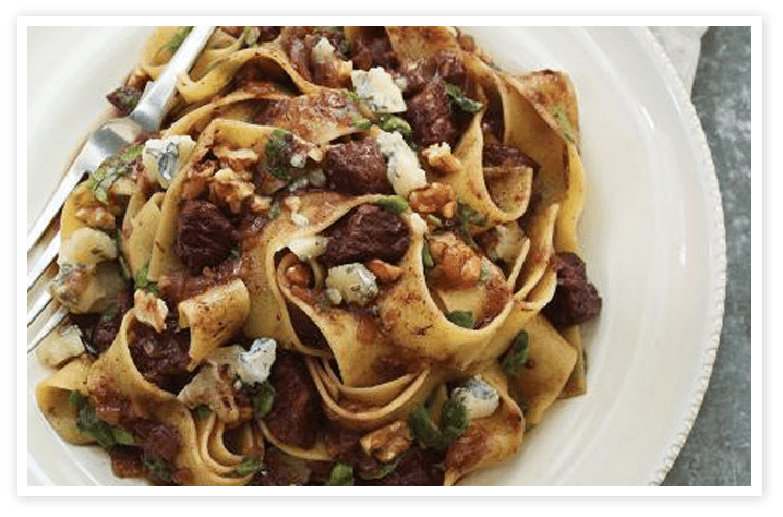Braised Beef with Pappardelle and Blue Cheese|Bosa Foods