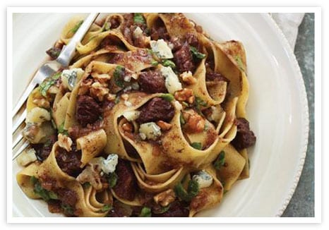 Braised Beef with Pappardelle and Blue Cheese