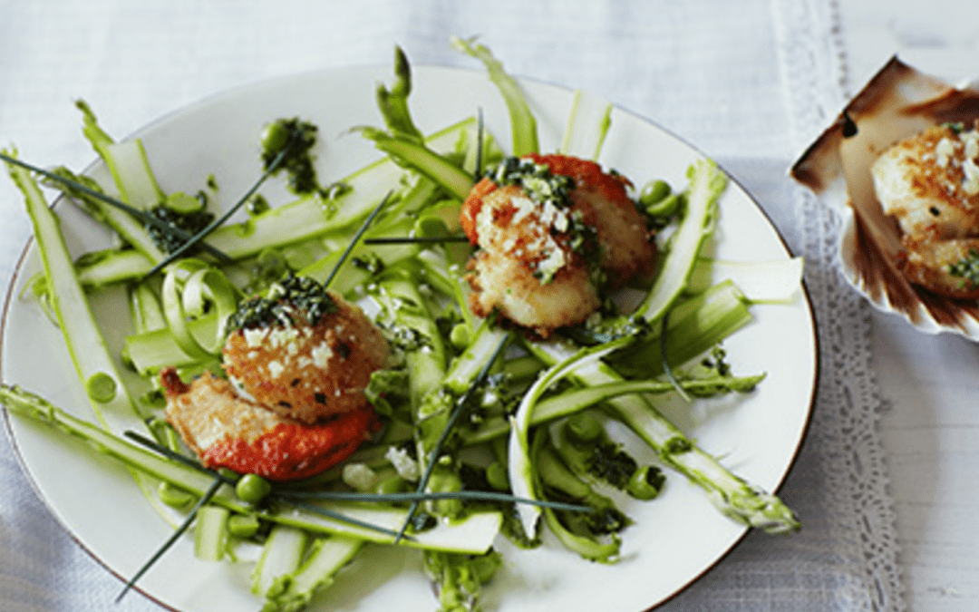 Scallops and Asparagus with Grana Padano