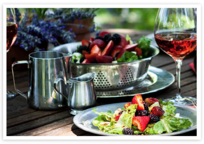 Blackberry Fennel Salad with Honey and Balsamic