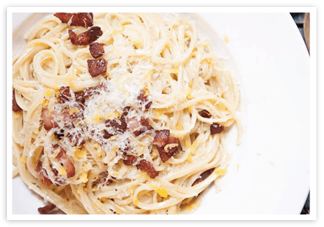 Linguine alla Carbonara with Lemon and Thyme
