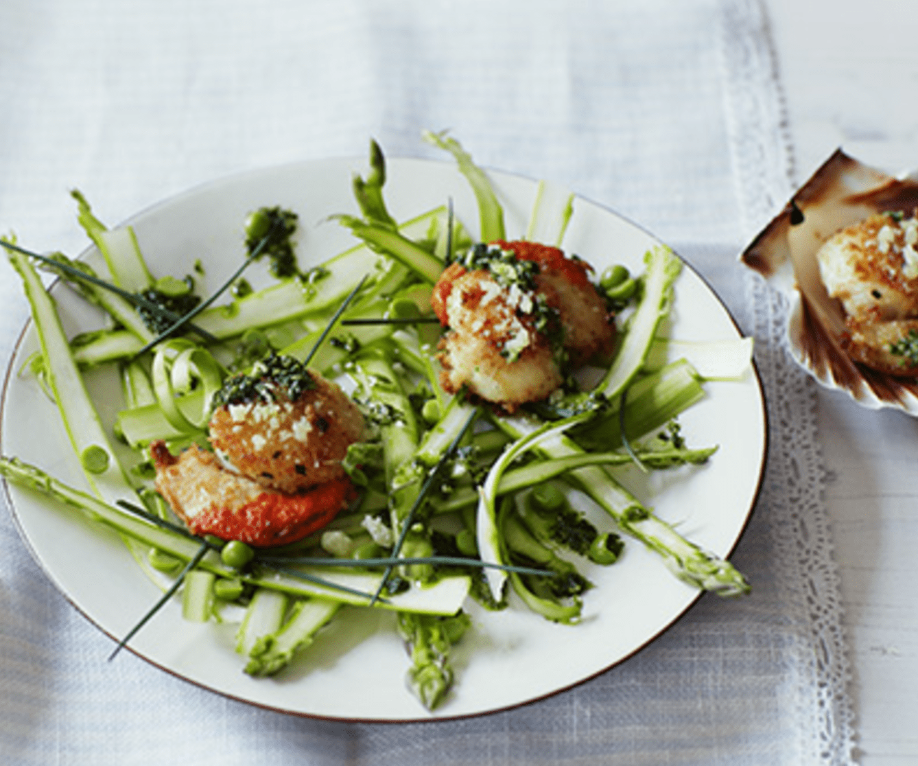 Scallops and Asparagus with Grana Padano - Bosa Foods
